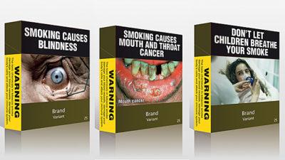 afschrikwekkende sigarettenpakjes australie