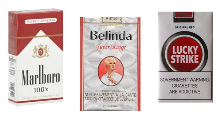 Top-3 slechte sigaretten